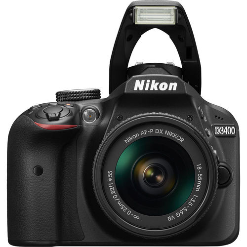 Nikon NIKD3400B157 D3400 DSLR Camera 24.2 Megapixel / 18-55mm Lens - Black