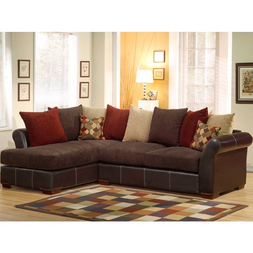 Laguna Brown Sectional Set