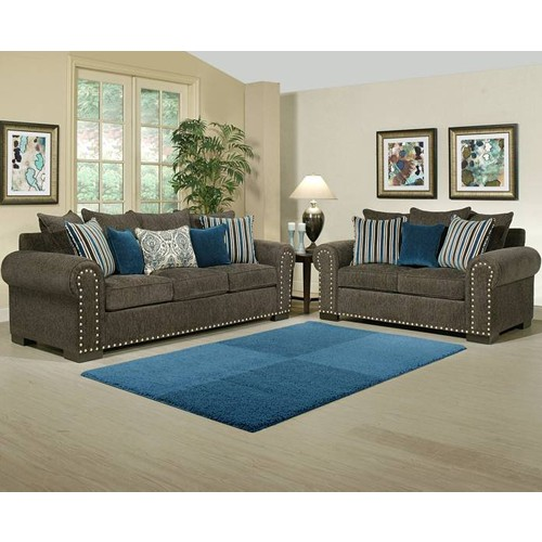 Charmant Razor Living Room 2 Piece Set
