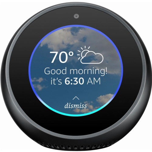 Amazon Echo Spot Smart Speaker with Alexa - Black