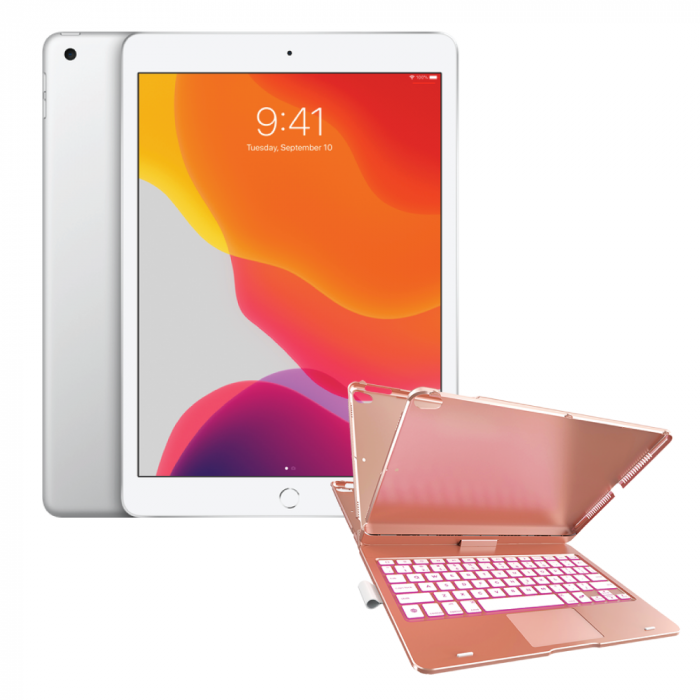 "Apple Bundle: Apple 10.2"" iPad + Touch Keyboard Case"