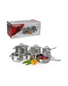 Alpine AI17494 12 piece Stainless Steel Belly Shape Cookware Set