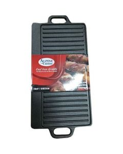 Alpine Cuisine CIRG20 Cast Iron Griddle - Black