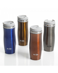 Mr. Coffee Kendrick 12.5 Ounce Thermal Travel Tumbler Assorted