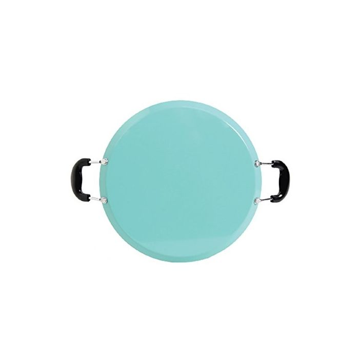 "Oster 111892.01  Cocina Zadora 14"" Comal Round Carbon Steel With Bakelite Handles- Teal"