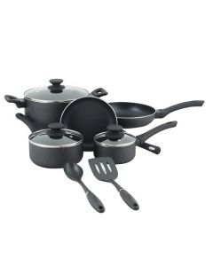 Oster 73076.10 Ashford 10-Piece Aluminum Cookware Set - Black