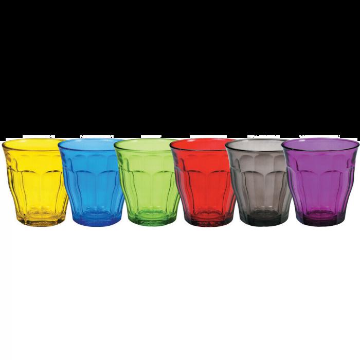 Duralex Picardie 25 Cl Glass Tumbler 8.75 oz Multicolor Assorted