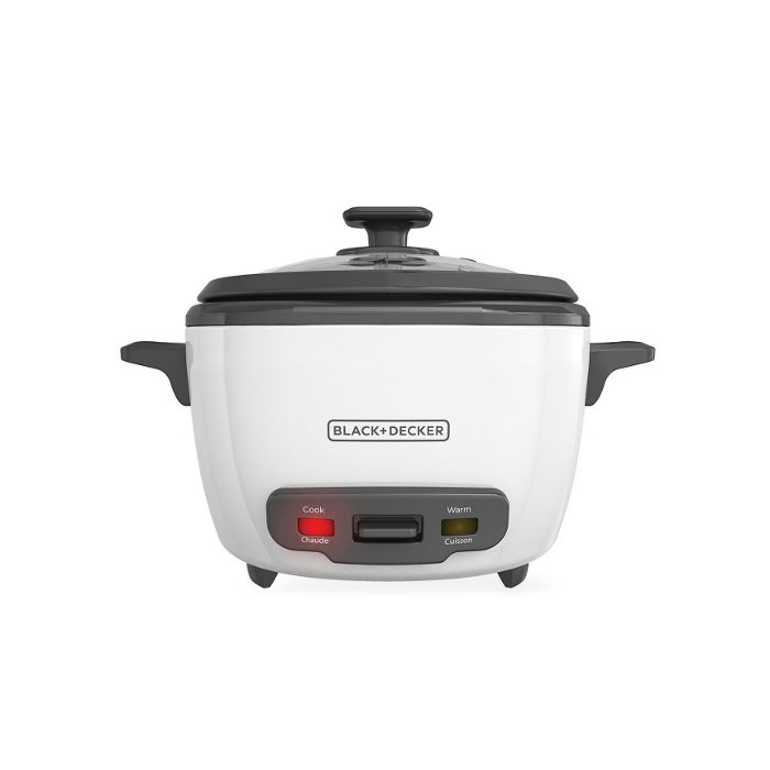Black & Decker RC514 14 Cup Rice Cooker and Food Steamer- White