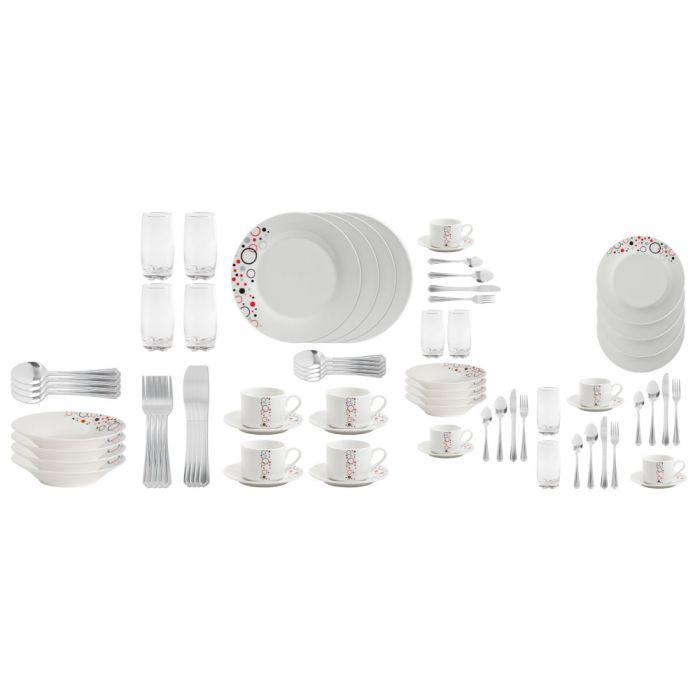Gibson Murcia Circles 36 Dinnerware Combo Set