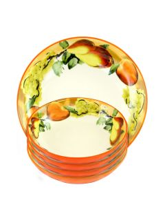 Fruit Orchard 5 Pc Pasta Bowl Set