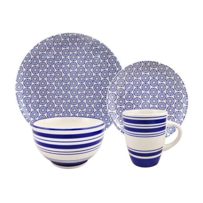 Dinner Set Pad Print 16 Piece