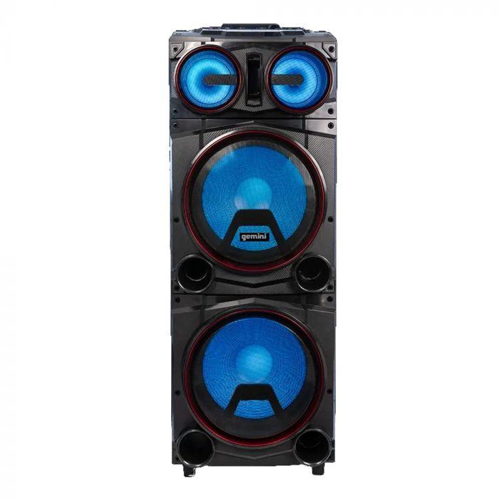 "Gemini GMAX-6000 Dual 15"" Bluetooth Led Party Speaker"
