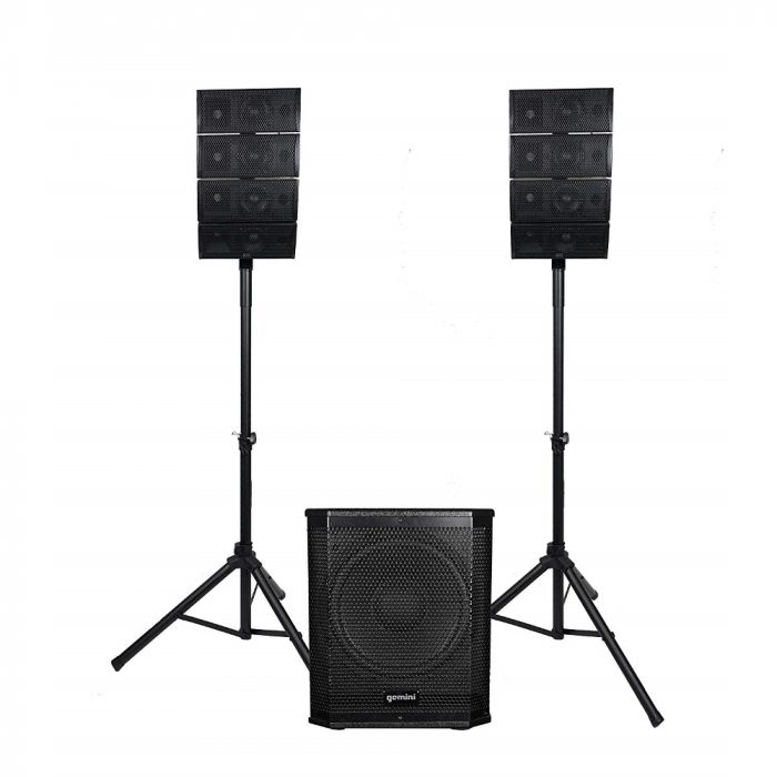 "Gemini4X4"" Portable Line Array Speaker System"