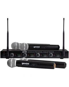 Gemini UHF-04M 4-Channel Wireless Handheld Microphone System
