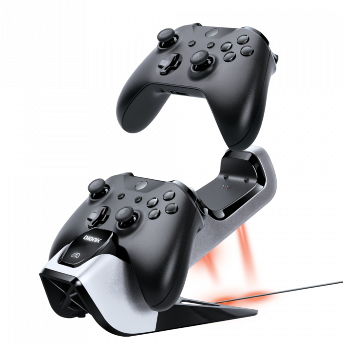 Bionik Power Stand Dual Rechargeable Battery and Charging System for Xbox One