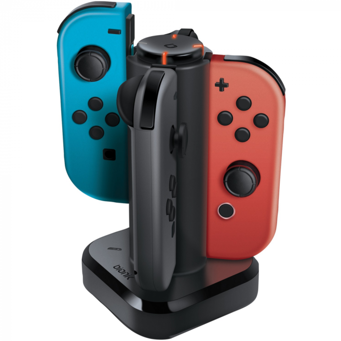 Bionik Nintendo Switch Tetra Power Charging Dock for Joy-Con Controllers - Black