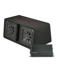 Kicker 1200W 2X12 Subs + Mono Amp