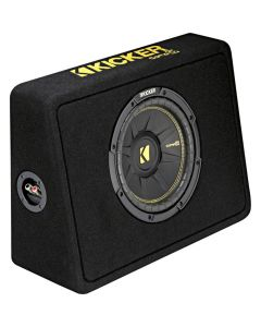 "Kicker 44TCWC104 10"" CompC 4-Ohm Subwoofer in Thin-Profile Box"