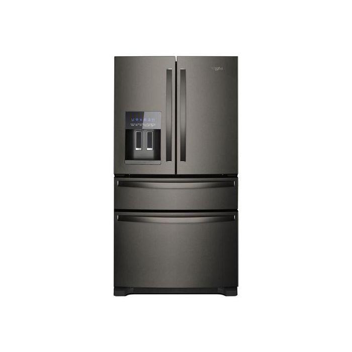 Whirlpool WRX735SDHV 24.5 Cu.Ft 4-Door French Door Refrigerator - Black Stainless Steel