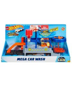 Hot Wheels Mega Car Wash Play Set - Blue/Orange