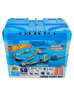 Hot Wheels Track Builder Jumbo Stunt Box 50+ Pieces