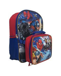 """Avengers 16"""" Backpack With Lunch Box"""
