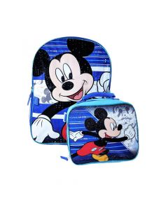 """Mickey 16"""" Backpack with Lunch Box"""