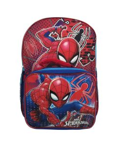 """Spiderman 16"""" Backpack With Lunch Box"""
