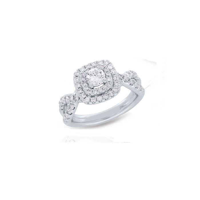 14K White Gold 1.10 ct Diamond Engagement Ring