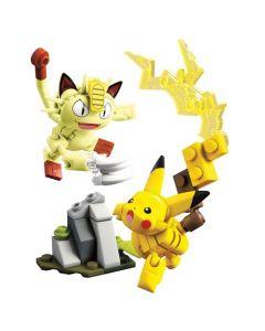Mega Construx Pokemon Pikachu & Meowth Showdown Building Set - Multicolor