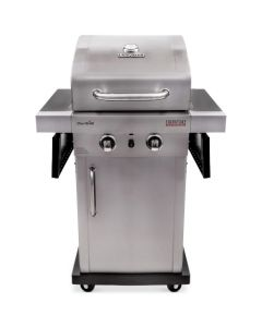Char-Broil - Signature TRU-Infrared 325 2-Burner Cabinet 18,000 BTU Gas Grill - Stainless Steel