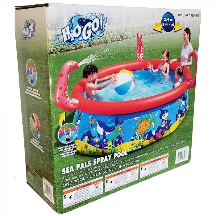 H2OGo Sea Pals Spray Pool 8 ft x 26 in