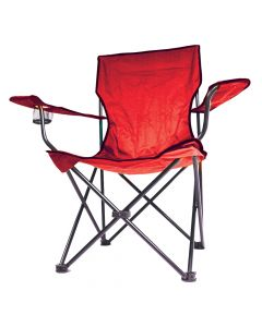Red Folding Chair With Arms
