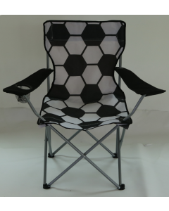 Soccer Design Folding Chair with Arms