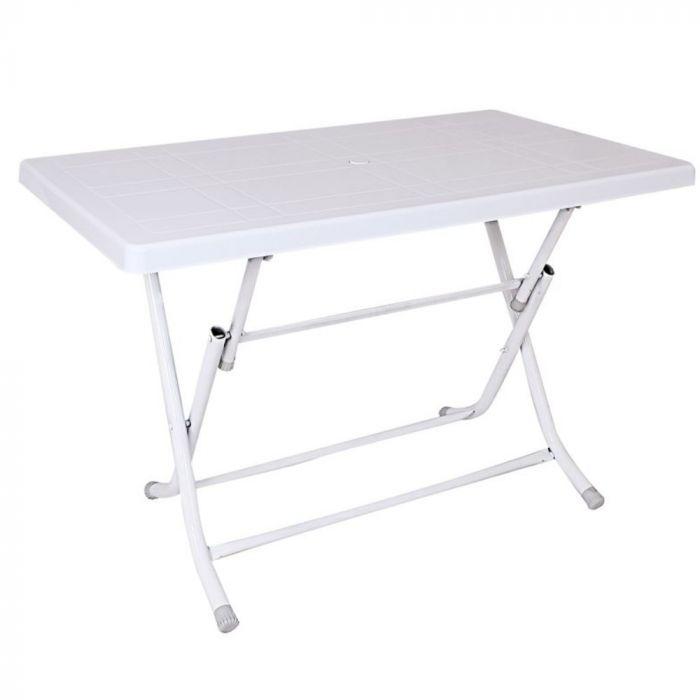 "Turan Plastic Table 31"" x 31"" - White"