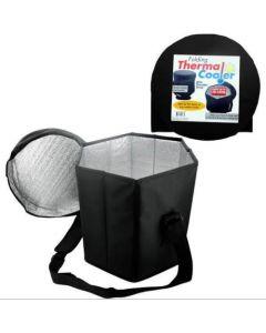 Folding Thermal Cooler with Shoulder Strap