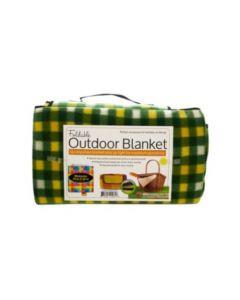 Soft Fleece Foldable Outdoor Blanket
