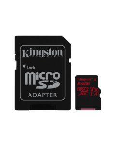 Kingston Canvas React flash memory card 64 GB micro