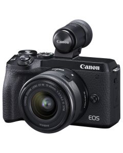 Canon EOS M6 Mark II Mirrorless Camera 15-45mm IS STM Lens