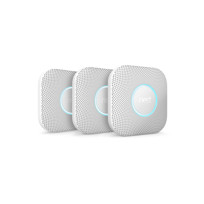 Nest Protect Smoke and Carbon Monoxide Alarm 2nd Generation 3-Pack