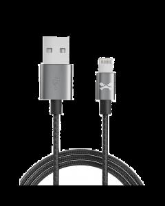 Ghostek 10' NRGline MFI Lightning Braided Cable/ Metal Housing - Black/Graphite
