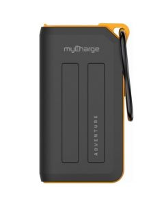 MyCharge Adventure Plus 6,700mAh Portable Charger for Most USB-Enabled Devices - Black/Orange