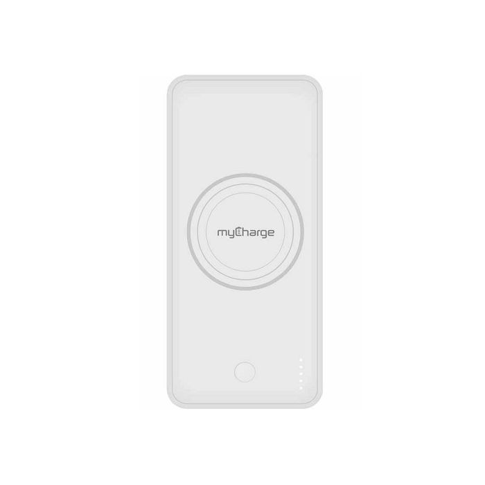 MyCharge Unplugged Qi Wireless Dual USB Port 10,000mAh Power Bank - White