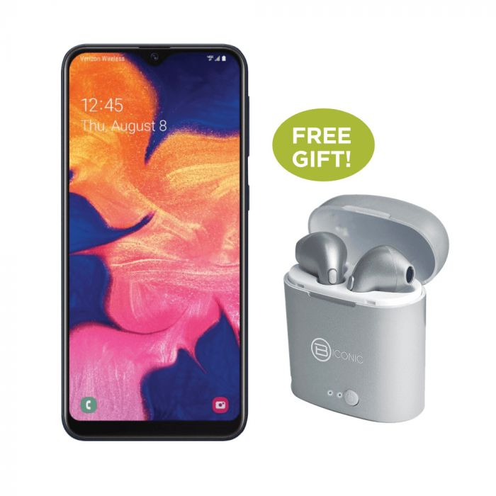 Samsung Bundle: Samsung Galaxy A10e Unlocked + Bionic Unleashed Twist Silver