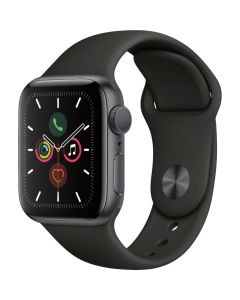 Apple Watch Series 5 GPS 44mm Case with Black Sport Band - Space Gray Aluminum
