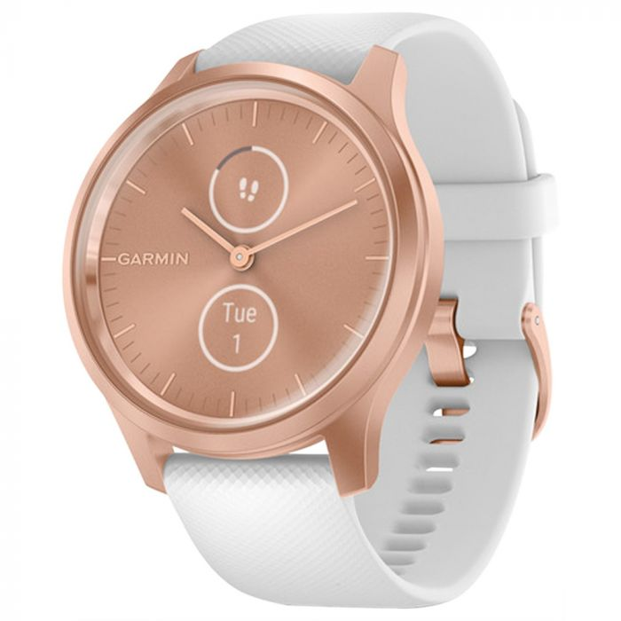 Garmin vivomove Style Hybrid Smartwatch - Rose Golde/ White