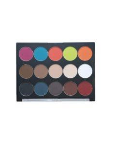 Aniise 15 Shade Eye Shadow Palette - Neutral / Splash Colors