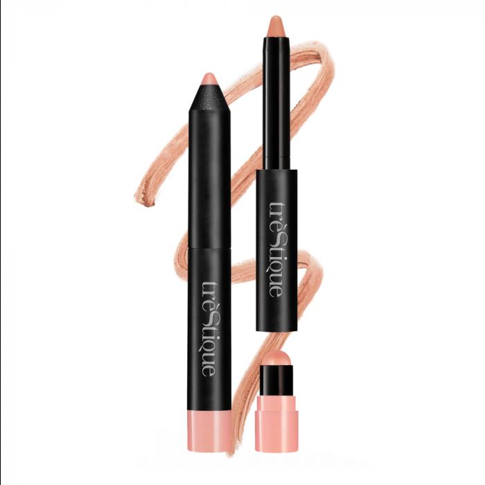 trèStiQue Matte Color & Shiny Moisturizing Balm Lip Crayon 2 in 1 - Nantucket Nude