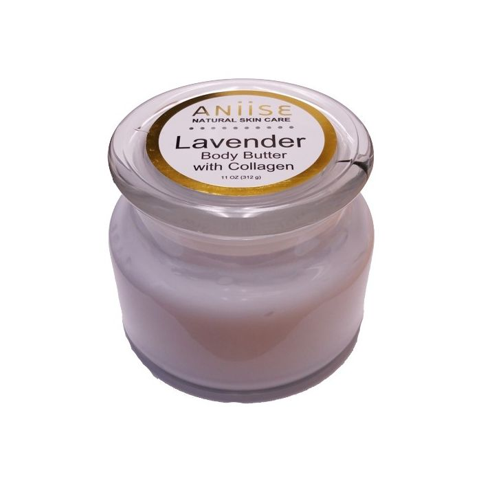 Aniise Natural Skin Care Body Butter with Collagen - Lavender