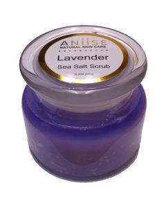Aniise Natural Skin Care Sea Salt Scrub - Lavender